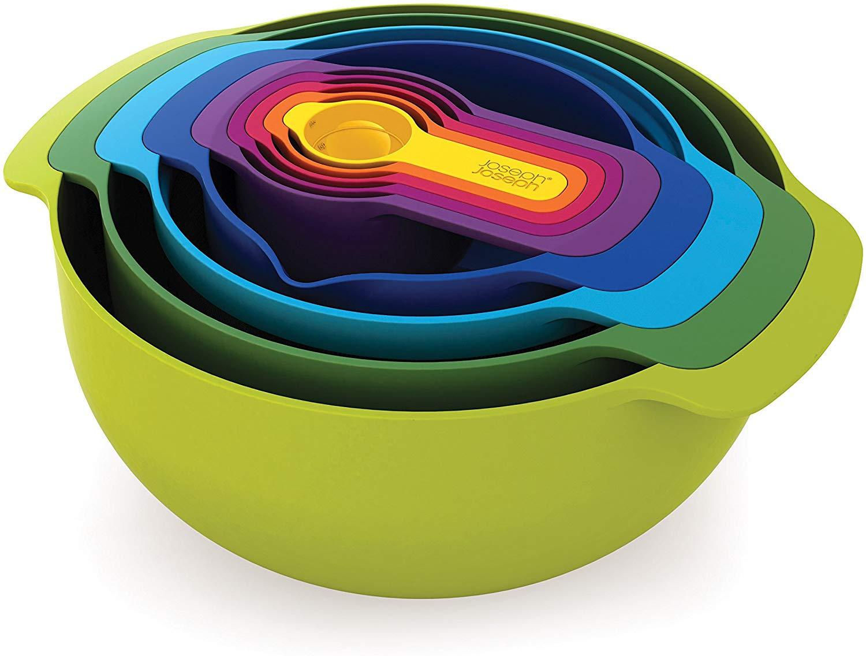 Joseph Joseph Nest 9 Plus 9 Piece Compact Food Preparation Set, Multi-Colour £17 (Prime) £21.49 (Non-Prime) @ Amazon