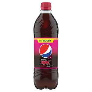 Pepsi Max Cherry 600ml Bottles 2 for £1 at Heron Foods (Leeds)