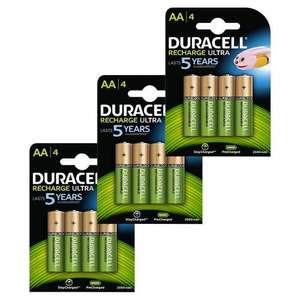 Duracell AA Rechargeable Batteries NiMH 2500mAh Duralock Pre & Stay Charged - 12 Pack - £20.99 @ 7dayShop