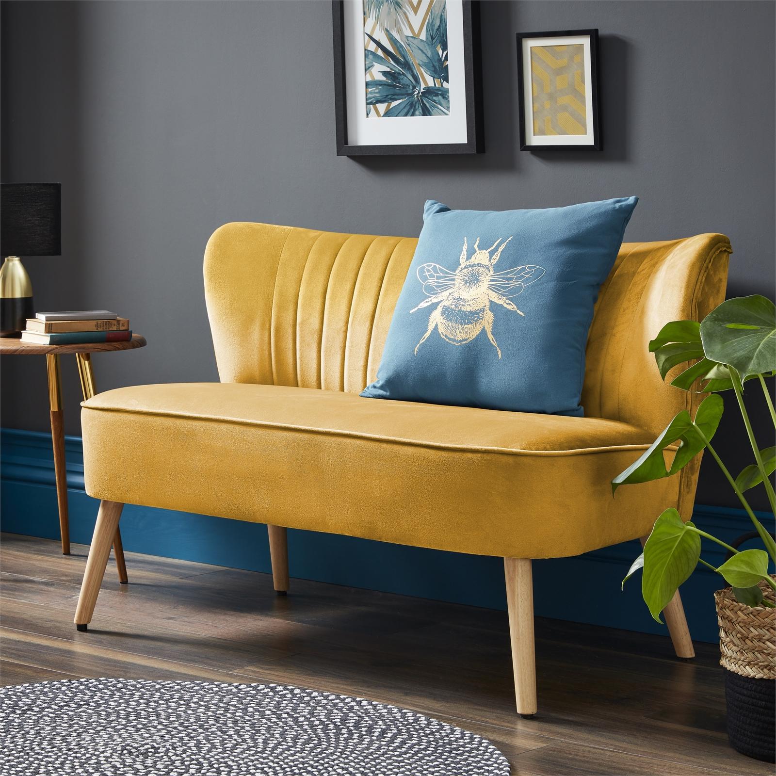 Cocktail Sofa (Grey or Ochre) - £120 Delivered @ Homebase