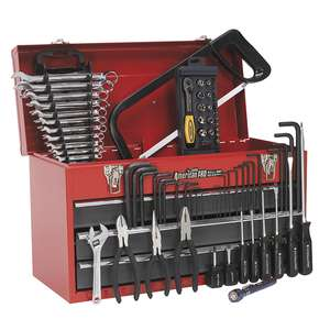 Sealey 93pc Tool Kit with 3 Drawer Tool Chest (Red/Grey) - £63 @ Euro Car Parts