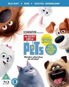 Secret Life Of Pets on Blu Ray (new) at Music Magpie for £2.89