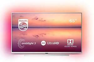 "Philips 65PUS6814 65"" Smart Ambilight 4K Ultra HD TV with HDR10+, Dolby Vision, Dolby Atmos and Alexa Built-In at ao.com £629"