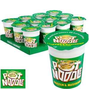 Pot noodle (12 x 90g) -- Chicken & mushrooms, Curry or Beef & tomatoes @ Farmfoods for £5.99