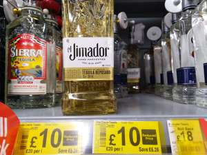 Jimador Tequila 70cl, 100% agave, Reposado & Blanco £10 instore at Asda