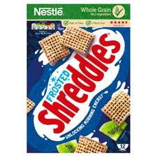 Nestle Frosted Shreddies Cereal 500G Half Price were £2.80 now £1.40 @ Tesco In-store & Online.