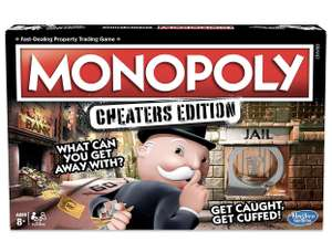 Hasbro Gaming Monopoly Game: Cheaters Edition Board Game Ages 8 and Up £13.49 Prime / £17.98 Non Prime at Amazon