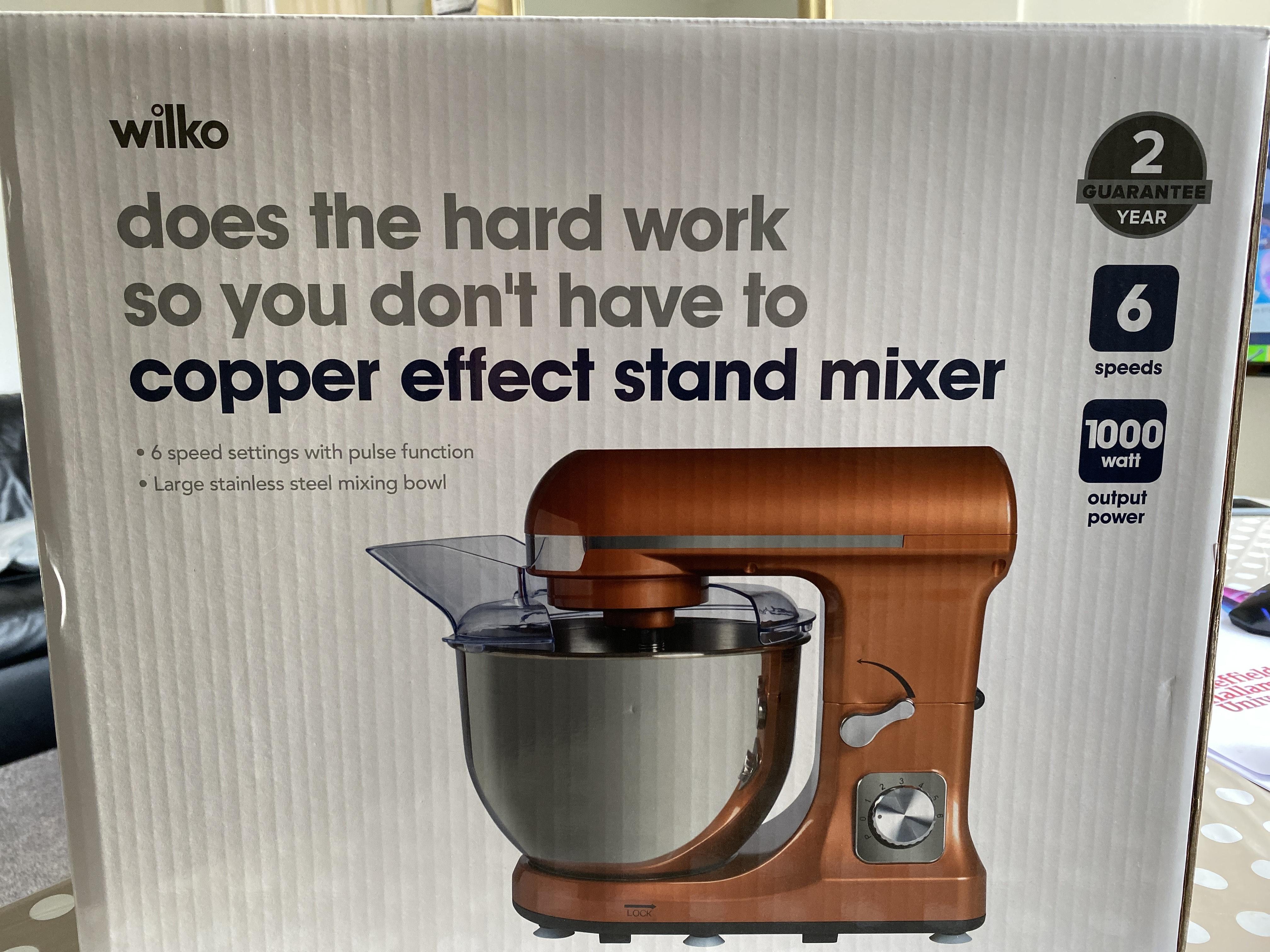 Copper Effect Stand Mixer £25 at Wilko Nottingham