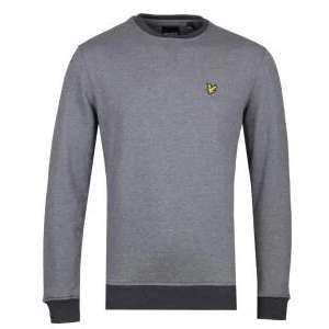Lyle & Scott sale - Mid Grey Crew Neck Sweatshift £23.99 (+£4.95 delivery) at Brown Bag Clothing