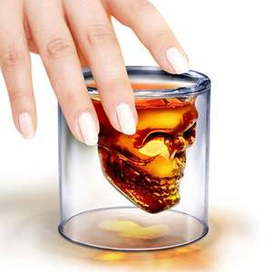 From Harts of stur skull shot glass £4.99 +£2 p&p