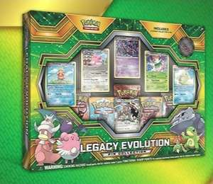 pokemon trading card legacy evolutions pin collection, 5 boosters, 1 ex, 5 holo 1 badge £12.91 @ Chaos cards