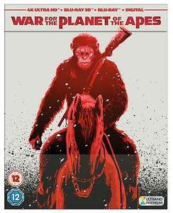 [4K UHD] War for the Planet of the Apes (4K Ultra HD & 3D Blu-Ray & Steelbook) - £7.99 delivered @ The Entertainment Store ebay