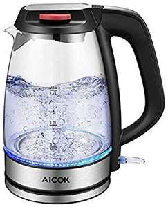 Aicok Glass Electric Kettle, 1.7L with Auto Shut-Off & Boil-Dry Protection 3000W £18.69 Sold by Koofan and Fulfilled by Amazon