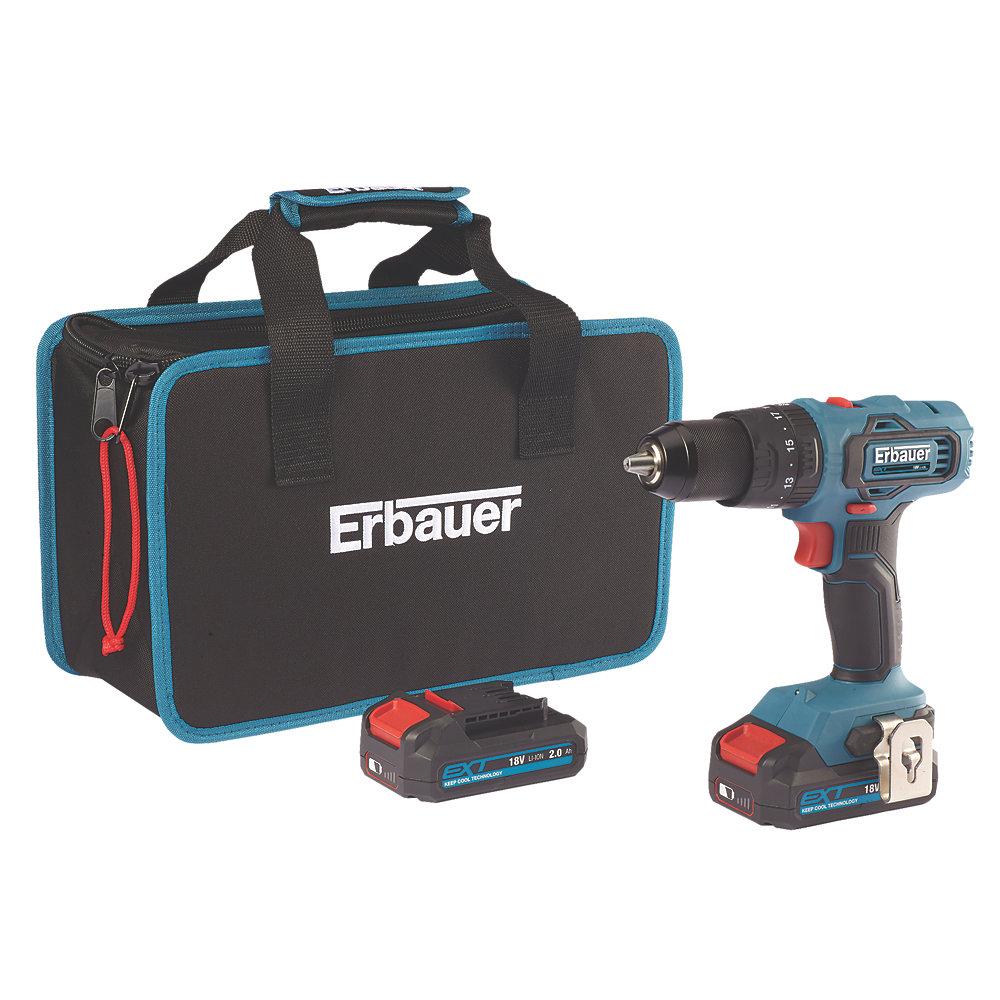 Erbauer EBCD18Li-2 18V 2.0Ah Li-Ion EXT Cordless Combi Drill for £69.99 delivered @ Screwfix (+2 years guarantee)