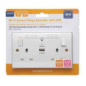 Wifi Extending Socket with Usb £14.99 - Aldi