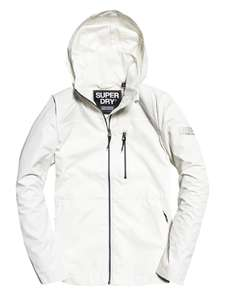Superdry Women's Ionic Windcheater Jacket - White XXL £15.92 (Prime) / £20.41 (non Prime) at Amazon