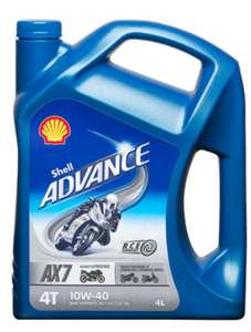 Shell Advance 10w-40 motorcycle oil 4l - £25.69 with code @ Euro Car Parts