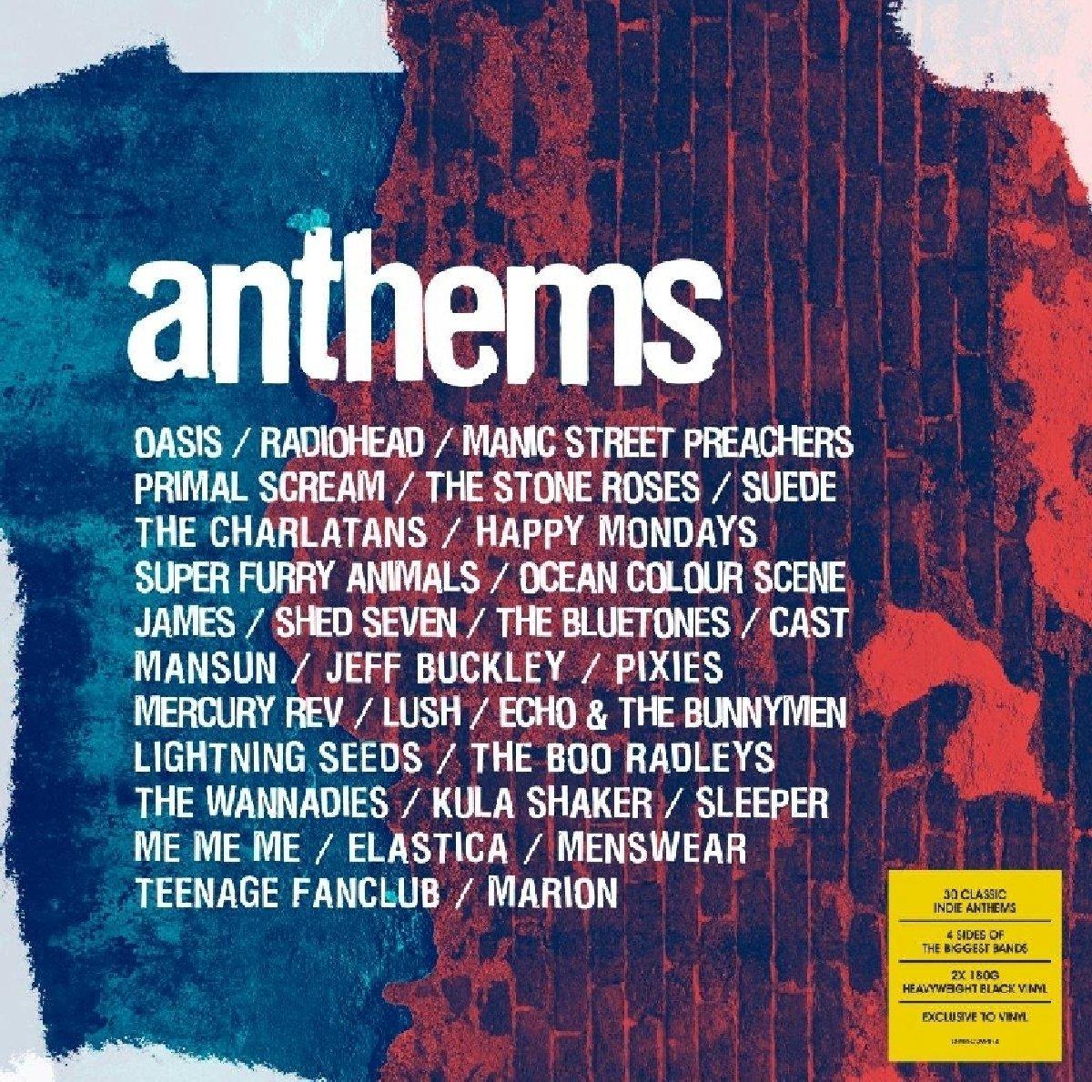 2 LP Vinyl Anthems £9.99 (Prime) £12.98 (Non Prime) on Amazon