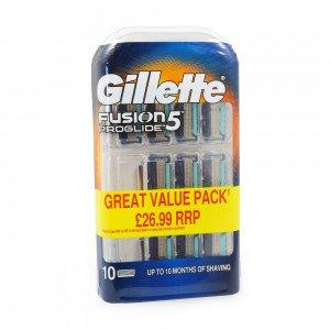 Gillette Fusion 5 proglide 10 pack - £20 @ Sainsbury's Kempston