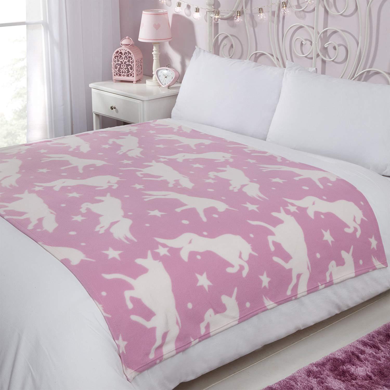 Dreamscene Fleece Blanket, Unicorn Pink-120 x 150 cm, White Stars, 120 x 150cm £5.99 (Prime) £10.48 (Non Prime) @ Amazon