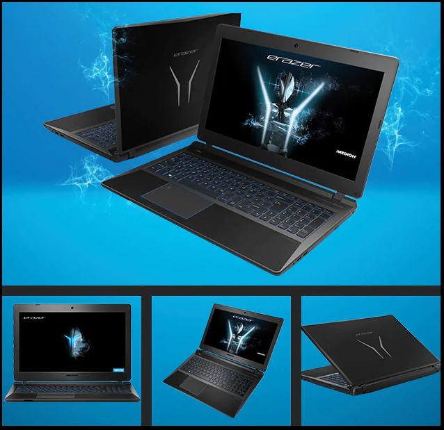 Medion Erazer P6689 Gaming Laptop, Intel Core i5-8250U 1.6GHz, 8GB RAM, 1TB HDD, 15.6 Full HD, DVDRW, NVIDIA GTX 1050 4GB - £583.47 @ Ebuyer