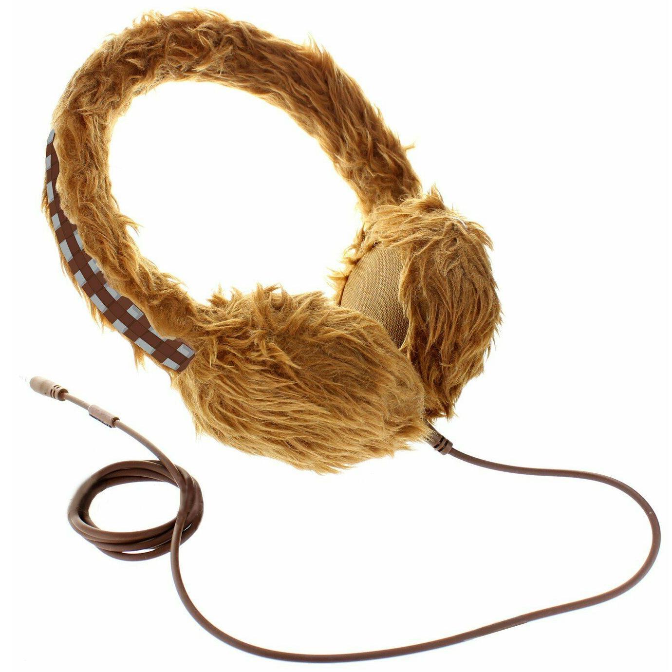 Star Wars Wookie 1m Wired PVC Detachable Cord Adjustable Headphones - Brown Argos on eBay - £6.99
