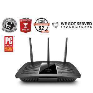 Linksys Max-Stream AC1900 MU-MIMO Fast Wireless Dual-Band WiFi Router for £48.48 delivered @ Ebuyer