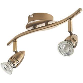 Inseki 2-Light Spotlight Brass 220-240V - £6.75 @ Screwfix. Free Click & Collect. - 1 Year Guarantee