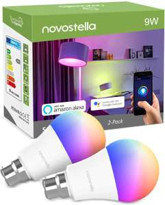 Novostella 9W B22 Smart Bulbs with 900 lumens (two pack) for £18.19 delivered @ Amazon / Ustellar-EU