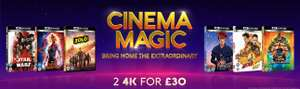 2 for £30 on Selected Disney 4k UHDs at zoom ( 4k Ultra HD Blu-ray )