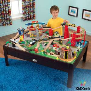 KidKraft Airport Express Train Set and Table in Espresso (3+ Years) £79.89 delivered @ Costco