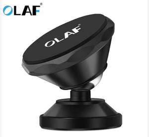 OLAF Universal Magnetic Car Phone Holder 360 Rotation Bracket Phone Stand For iPhone Samsung Huawei - Black - £2.74 @ Gearbest
