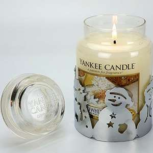 Spiced White Cocoa Yankee Candle Large Jar 623g + Metal Snowman Holder - £15 Or £14.25 For New Accounts With Code @ Yankee Bundles