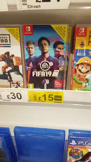 Nintendo Switch Fifa 19 £15 at Asda Morley Leeds
