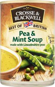 10p pea and mint soup 10p @ B&M Edinburgh