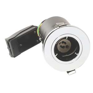 LAP Fixed Fire Rated Downlight Polished Chrome 220-240V FREE Click and Collect @screwfix Chippenham