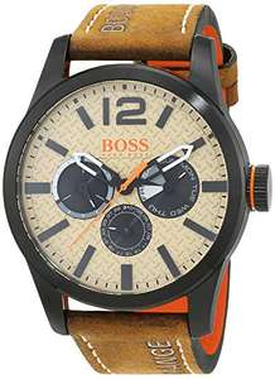 Hugo BOSS Paris Mens Quartz Chronograph Brown Leather Strap £47.68 @ Amazon