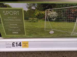 6ft x 4ft football goal £14 @ Cheetham Hill Tesco in Manchester