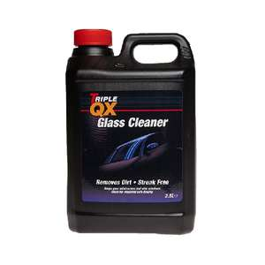 TRIPLE QX Glass Cleaner - 2.5 Litres 98p with code @ EuroCarParts (Free Click & Collect)