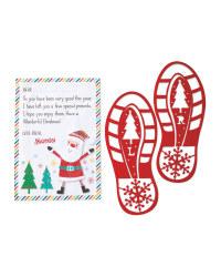 Santa's Footprint Stencils & Letter Off Santa 89p @ Aldi (Instore)