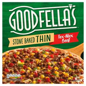 Goodfella's Stonebaked Thin Pizza- Tex Mex Beef/Chicken/Meat Feast/Pepperoni/Margherita, Now £1.50 @ Asda