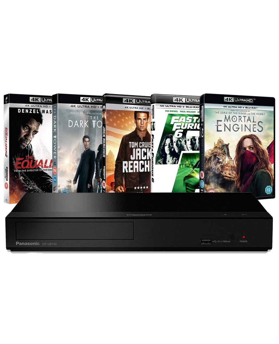 Panasonic DP-UB150EB-K: 4K Ultra HD Player & 5 x 4K UHD Blu-ray Bundle - £119.99 Delivered @ Zoom