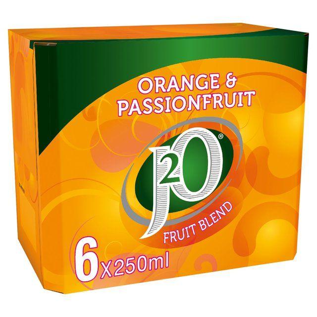 J2O Orange & Passion Fruit Still Juice Drink Fridge Pack 6 x 250ml £3 @ morrisons