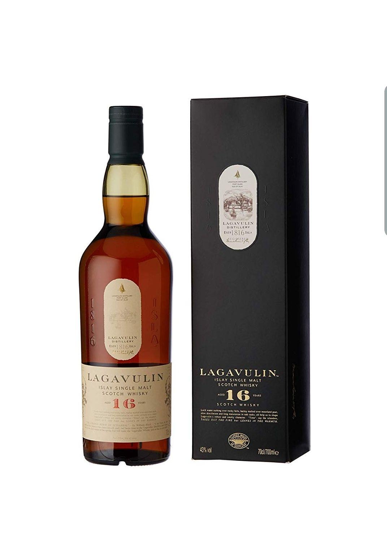 Lagavulin 16 Year Old Single Malt Scotch Whisky, 70cl - £43.99 @ Amazon