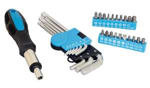 30 piece Ratcheting Screwdriver & Hex key Set for £6.25 @ Halfords (Free click+collect)