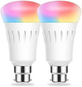 WiFi Smart B22 Bayonet Bulbs, Alexa Light Bulb, LOHAS RGB and White (2700-6000K), 9W=60W £14.29 with code Sold by LED-365BUY & FB Amazon.
