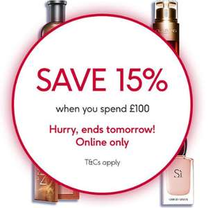 15% Off when you spend £100+ on 1000s of products @ Boots - Includes Perfume, Electrical Beauty, Strollers .... E.g. Fitbit Versa 2 £169.99
