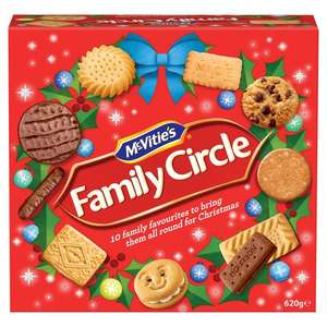 McVities Family Circle 620g two for £4 online and in Morrisons