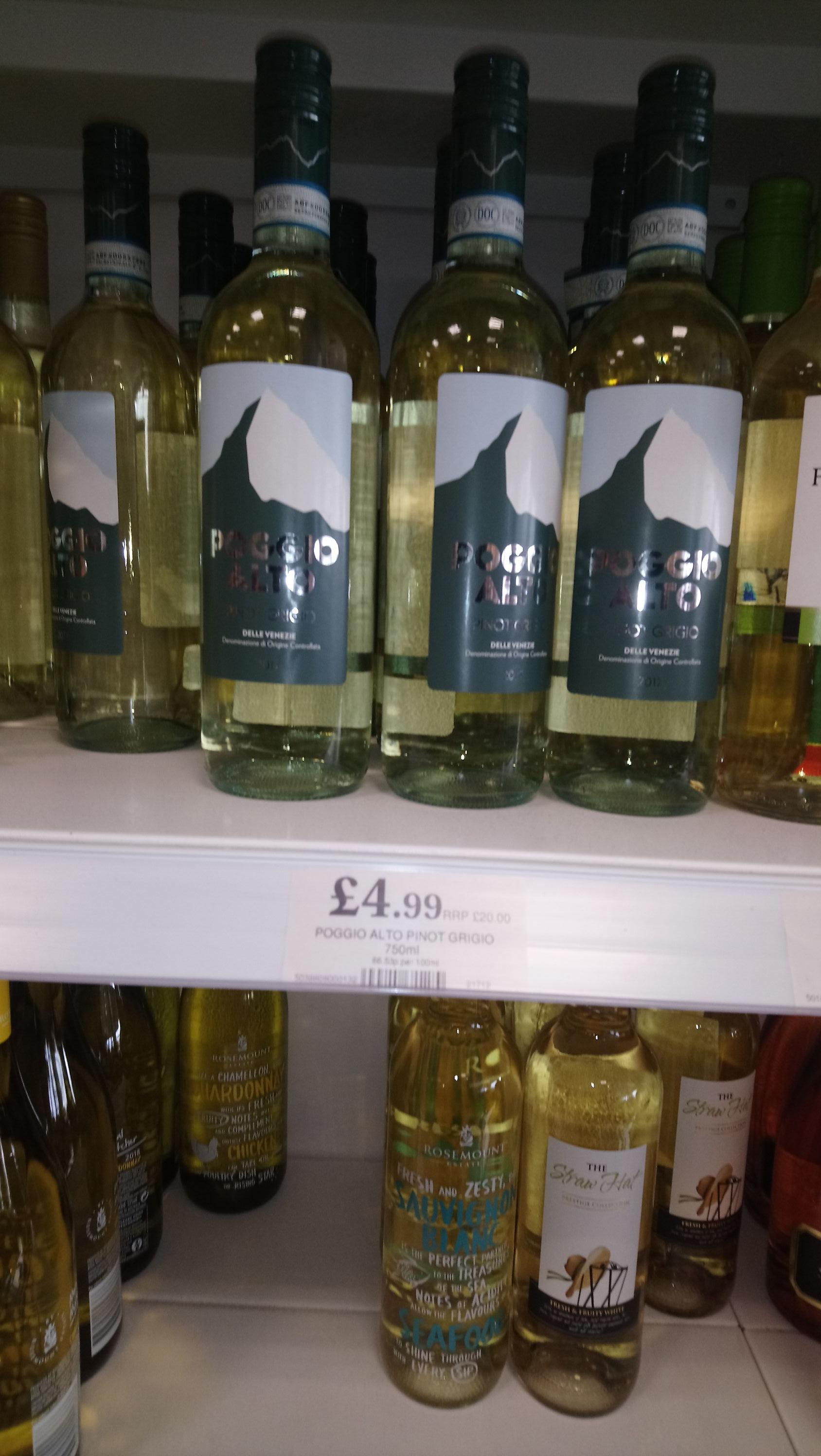 Pinot Alto pinot grigio £4.99 @ Home bargains Thurrick Essex