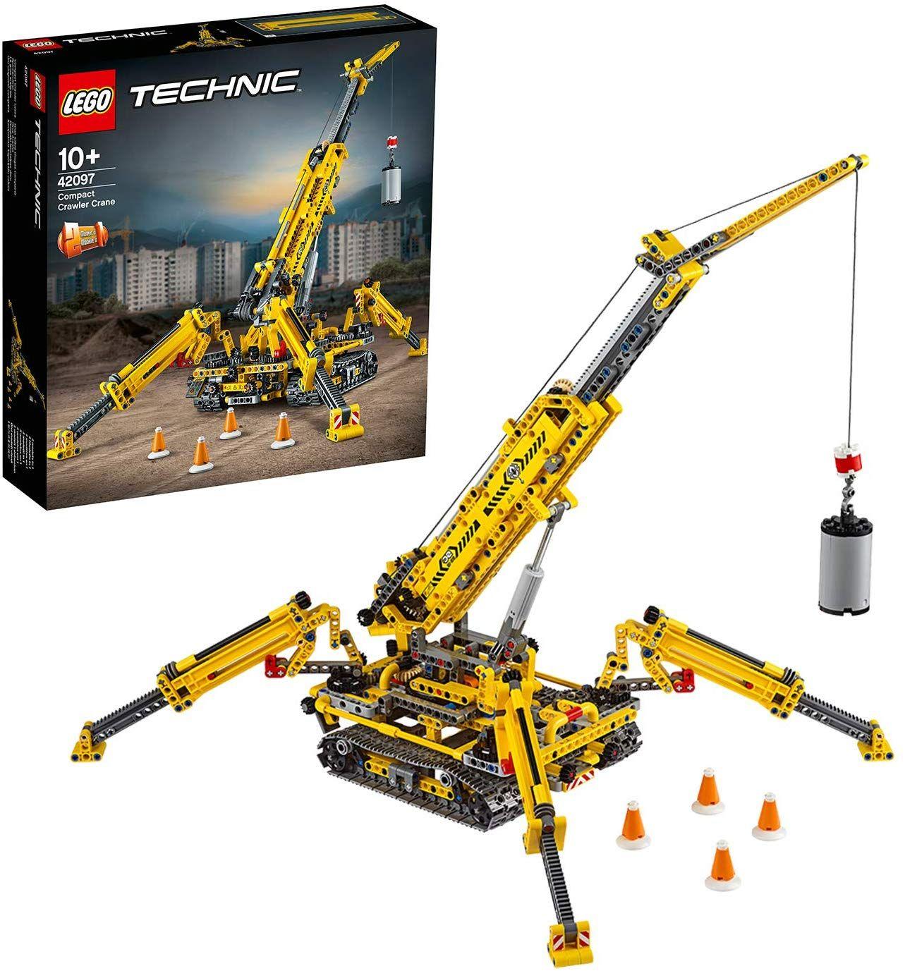 LEGO 42097 Technic Compact Crawler Crane and Tower Crane, 2 in 1 Spiderlike Model £64.99 @ Amazon